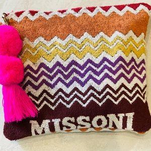 Missoni Towel Clutch; Upcycled Missoni Towel Bag
